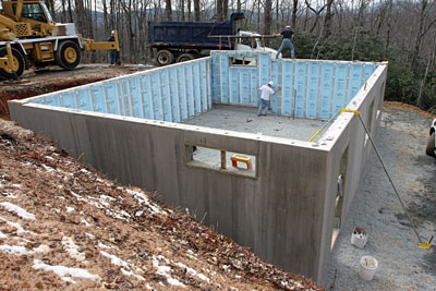 Concrete foundations concrete slabs for Foam block foundation prices